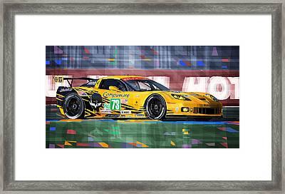 Chevrolet Corvette C6r Gte Pro Le Mans 24 2012 Framed Print by Yuriy  Shevchuk