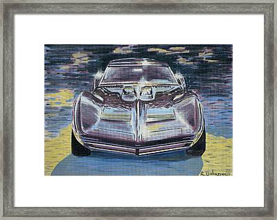 Chevrolet Corvette Framed Print by Rimzil Galimzyanov