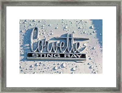 1966 Chevrolet Corvette Sting Ray Emblem -0052c Framed Print by Jill Reger
