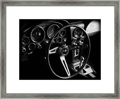 Chevrolet Corvette Sting Ray Interior Framed Print by Mark Rogan