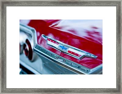 Chevrolet Impala Emblem 3 Framed Print by Jill Reger