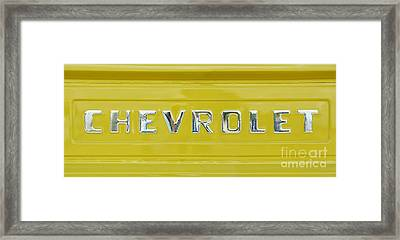 Chevrolet Pickup Tailgate Framed Print by Tim Gainey