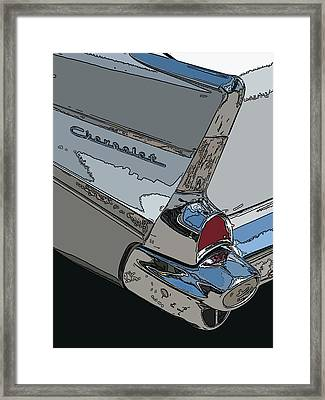 Chevrolet Tail Fin Framed Print by Samuel Sheats