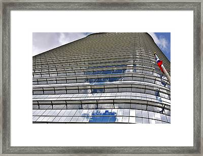 Chevron Corporation Houston Tx Framed Print by Christine Till