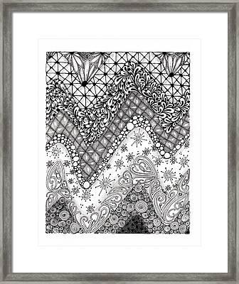 Chevron Tangle Framed Print by Paula Dickerhoff
