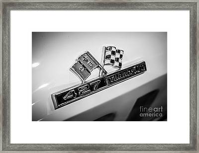 Chevy Corvette 427 Turbo-jet Emblem Framed Print by Paul Velgos