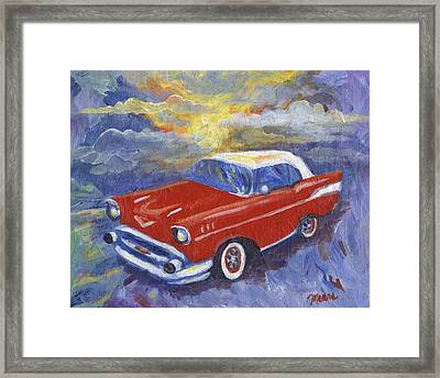 Chevy Dreams Framed Print by Linda Mears