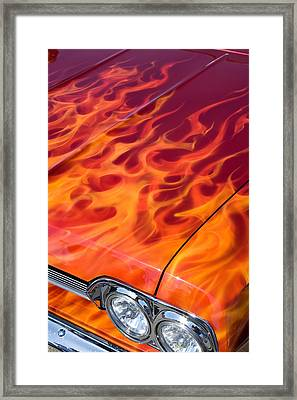 Chevy Flames Framed Print by Peter Tellone