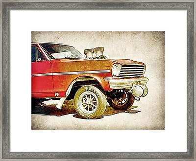 Chevy Gasser Art Framed Print by Steve McKinzie