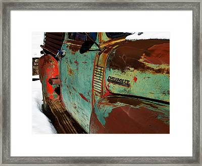 Chevy Framed Print by Gia Marie Houck