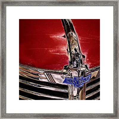 Chevy Grill Framed Print by David Patterson
