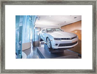 Chevy In Renaissance Center Framed Print by John McGraw