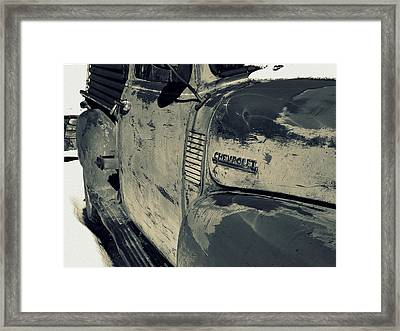 Chevy In Silver Framed Print by Gia Marie Houck