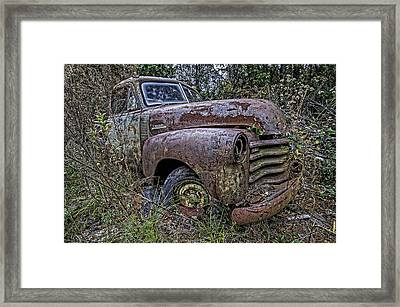 Chevy Rust Bucket Framed Print by Andy Crawford