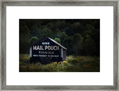 Chew Mailpouch Framed Print by Tom Mc Nemar