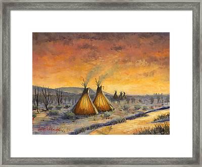 Cheyenne Comfort Framed Print by Jeff Brimley