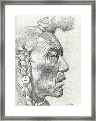 Cheyenne Medicine Man Framed Print by Bern Miller