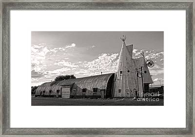 Cheyenne Wyoming Teepee - 02 Framed Print by Gregory Dyer