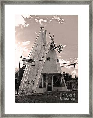Cheyenne Wyoming Teepee - 04 Framed Print by Gregory Dyer