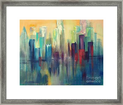 Chicago A Reflection Framed Print by Julie Lueders