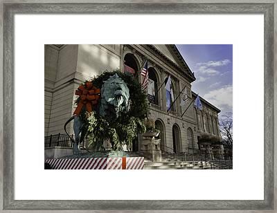 Chicago Art Institute Guardian Framed Print by Sebastian Musial