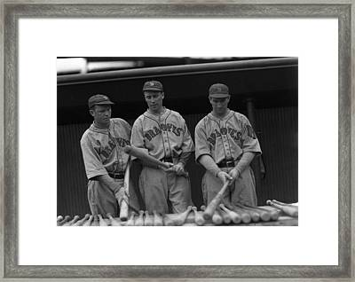 Boston Braves Bats Framed Print by Retro Images Archive