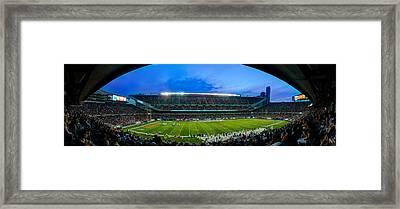 Chicago Bears At Soldier Field Framed Print by Steve Gadomski