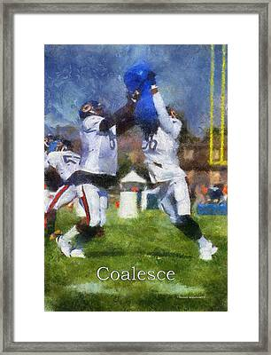 Chicago Bears Coalesce At Training Camp 2014 Pa 02 Framed Print by Thomas Woolworth