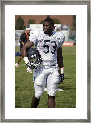 Chicago Bears Lb Jerry Franklin Training Camp 2014 01 Framed Print by Thomas Woolworth