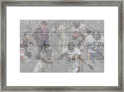 Chicago Bears Legends Framed Print by Joe Hamilton