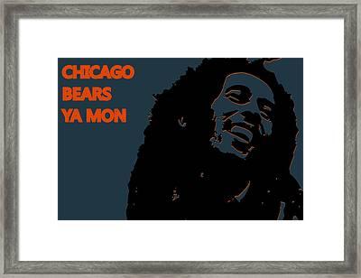 Chicago Bears Ya Mon Framed Print by Joe Hamilton