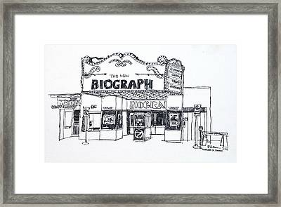 Chicago Biograph Theater Framed Print by Robert Birkenes