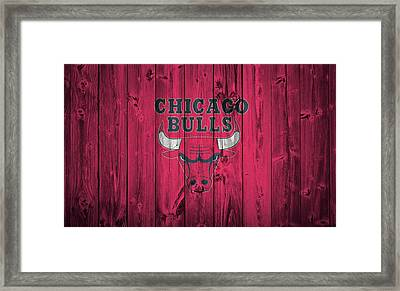 Chicago Bulls Barn Door Framed Print by Dan Sproul