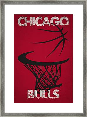 Chicago Bulls Hoop Framed Print by Joe Hamilton