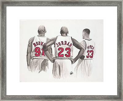 Chicago Bulls Framed Print by Megan Padilla