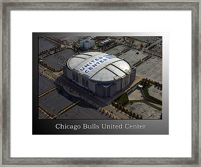 Chicago Bulls United Center Framed Print by Thomas Woolworth