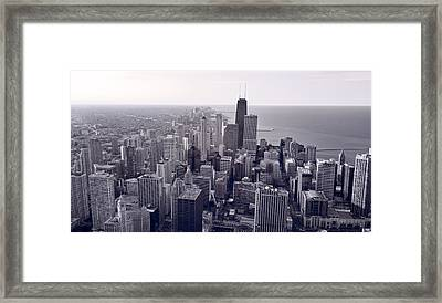 Chicago Bw Framed Print by Steve Gadomski