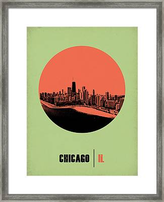Chicago Circle Poster 1 Framed Print by Naxart Studio