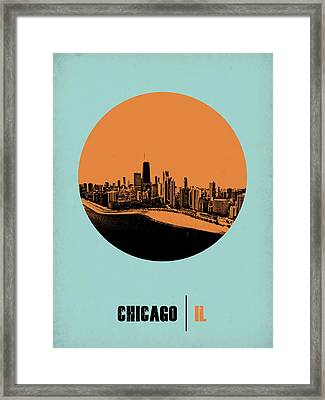Chicago Circle Poster 2 Framed Print by Naxart Studio