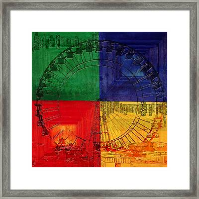 Chicago City Collage 3 Framed Print by Corporate Art Task Force