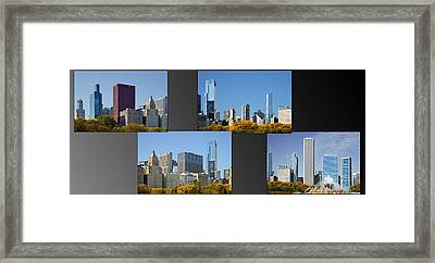 Chicago City Of Skyscrapers Framed Print by Christine Till