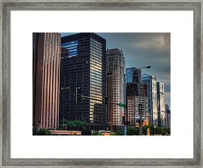 Chicago Cityscape 002 Framed Print by Lance Vaughn