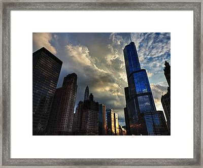 Chicago Cityscape 003 Framed Print by Lance Vaughn
