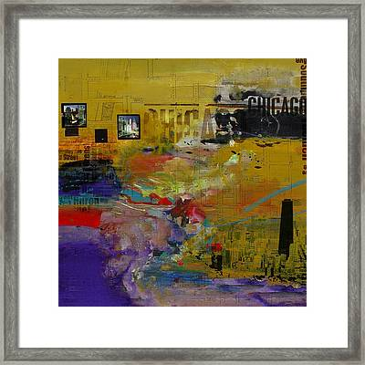 Chicago Collage 2 Framed Print by Corporate Art Task Force