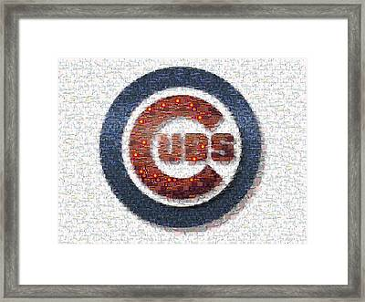 Chicago Cubs Mosaic Framed Print by David Bearden