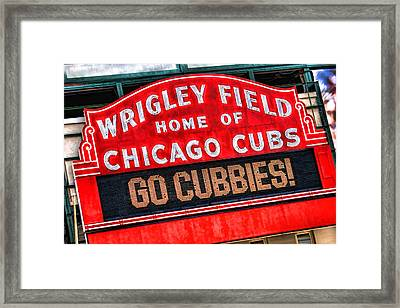 Chicago Cubs Wrigley Field Framed Print by Christopher Arndt