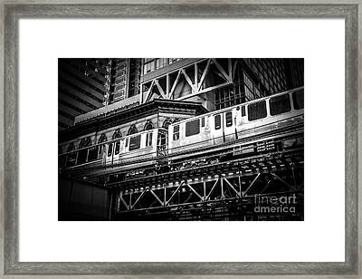 Chicago Elevated  Framed Print by Paul Velgos