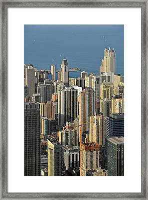 Chicago From Above - What A View Framed Print by Christine Till