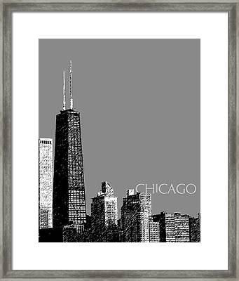 Chicago Hancock Building - Pewter Framed Print by DB Artist