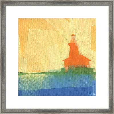 Chicago Harbor Light 6 Of 100 Framed Print by W Michael Meyer